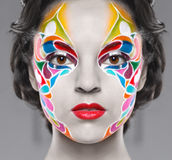 Beautiful young model with bright make up Stock Image