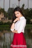 Beautiful young model fashion portrait stock photos
