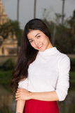 Beautiful young model fashion portrait royalty free stock photography