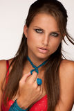 Beautiful young model with jewelery Royalty Free Stock Photos