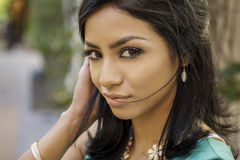 Beautiful young modern woman Royalty Free Stock Image