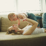 Beautiful young mother with baby Royalty Free Stock Photography