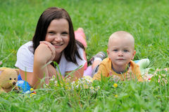Beautiful young mother and child Royalty Free Stock Photos