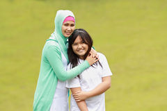 Beautiful young mother and her daughter Stock Photography