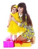 Beautiful young mother and her little daughter Stock Photography