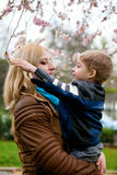 Beautiful young mother with her son Royalty Free Stock Photos