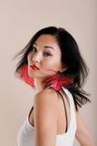 Beautiful young multinational model royalty free stock photos