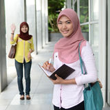 Beautiful young muslim student Stock Photos