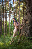 Beautiful young naked woman Stock Photography