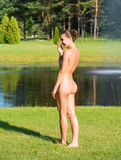 Beautiful young nude woman Stock Photography