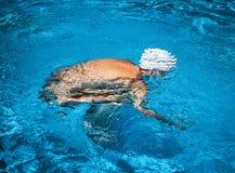 Free Beautiful Young Nude Woman In Swimming Pool Stock Photo - 144029500