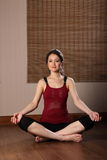 Beautiful young oriental woman meditating Royalty Free Stock Images