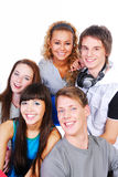 Beautiful young people Stock Images