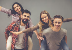 Beautiful young people Stock Photography