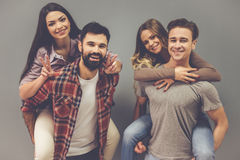 Beautiful young people Stock Image