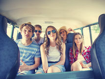 Beautiful young people a on road trip Royalty Free Stock Photos