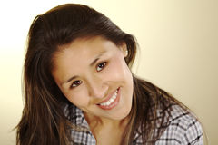Beautiful Young Peruvian Woman Royalty Free Stock Images