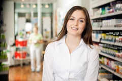 Beautiful Young Pharmacist Royalty Free Stock Photos