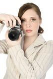 Beautiful Young Photographer Royalty Free Stock Image