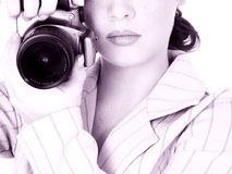 Beautiful Young Photographer royalty free stock photography