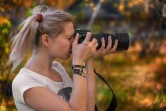 Beautiful young photography take photos Royalty Free Stock Photos