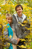 Beautiful young pregnant couple Stock Image