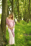 Beautiful young pregnant girl on nature Stock Photos