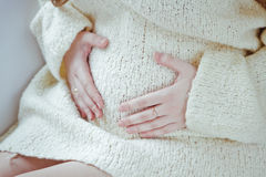 Beautiful young pregnant woman Stock Photos