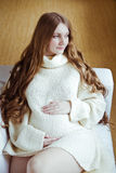 Beautiful young pregnant woman Stock Photography