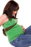 Beautiful young pregnant woman Stock Images