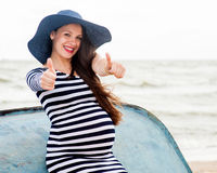 Beautiful young pregnant woman Royalty Free Stock Images
