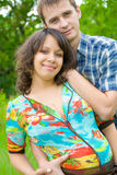 Beautiful young pregnant woman with husband Royalty Free Stock Photo