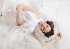 Beautiful young pregnant woman Royalty Free Stock Photos