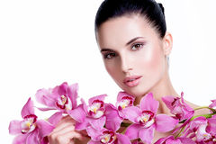 Beautiful young pretty woman with healthy skin. Stock Images