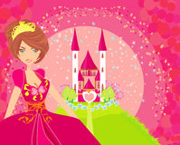 Beautiful young princess Stock Images