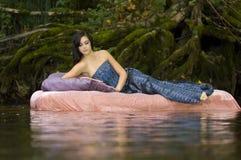 Beautiful Young Princess Awakens Royalty Free Stock Images