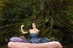 Beautiful Young Princess Awakens royalty free stock photos
