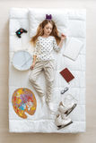 Beautiful young princess and her hobbies Royalty Free Stock Image