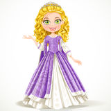 Beautiful young princess in purple dress Stock Image