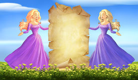 Beautiful young princesses Royalty Free Stock Photo