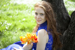 Beautiful young red hair woman Royalty Free Stock Photography