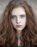 Beautiful young red hair woman Stock Image