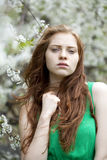 Beautiful young red hair woman Stock Photo