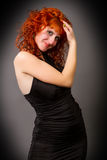 Beautiful young red-haired girl Royalty Free Stock Images