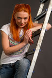 Beautiful young red-haired girl Stock Photography