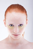 Beautiful young red-haired woman Royalty Free Stock Image