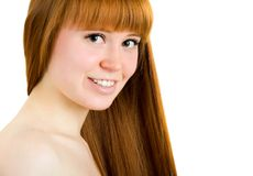 Beautiful young red-haired woman Stock Photography