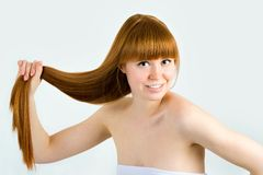 Beautiful young red-haired woman Royalty Free Stock Photo