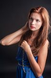 Beautiful young red haired woman Royalty Free Stock Image
