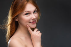 Beautiful young red-haired woman Royalty Free Stock Photography